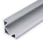 Алюминиевый профиль для светодиодной ленты Угловой 18x18mm