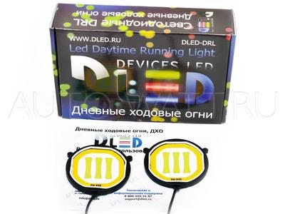 Дневные ходовые огни DRL-109 (гибкие) с поворотом High-Power 10W