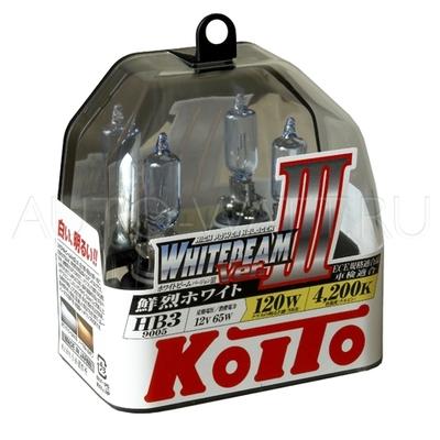 Газонаполненные лампы HB3 9005 - Koito Whitebeam ||| 4200K
