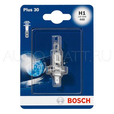 Лампа галогенная H1 - Bosch Plus 30% 12V 55W