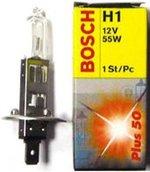 Лампа галогенная H1 - Bosch Plus 50% PlusLife 12V 55W