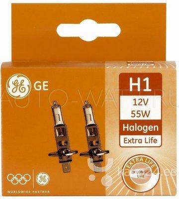 Лампа галогенная H1 - GE Extra Life