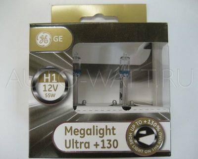 Лампа галогенная H1 - GE Megalight Ultra +130
