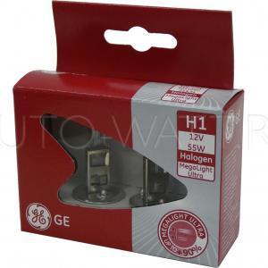 Лампа галогенная H1 - GE Megalight Ultra +90