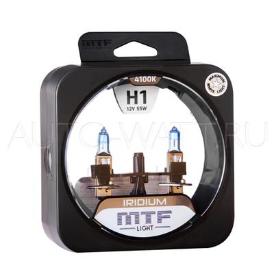 Лампа галогенная H1 - MTF Iridium 12V 55W 4100K