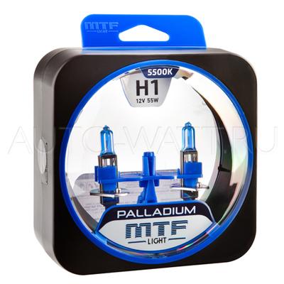 Лампа галогенная H1 - MTF Palladium 12V 55W 5500K