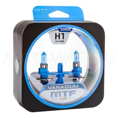 Лампа галогенная H1 - MTF Vanadium 12V 55W 5000K