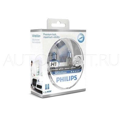 Лампа галогенная H1 - PHILIPS White Vision +60% 12V 55W 4300K Комплект