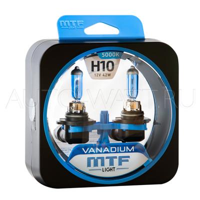 Лампа галогенная H10 - MTF Vanadium 12V 42W 5000K