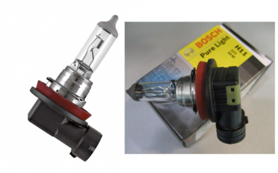 Лампа галогенная H11 - Bosch Pure Light 55W
