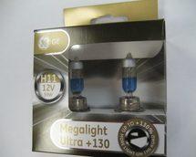 Лампа галогенная H11 - GE Megalight Ultra +130
