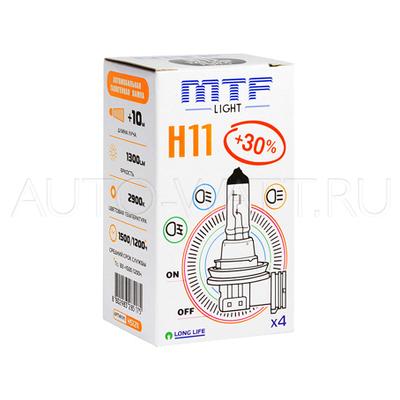 Лампа галогенная H11 - MTF 12V 55W 3000K