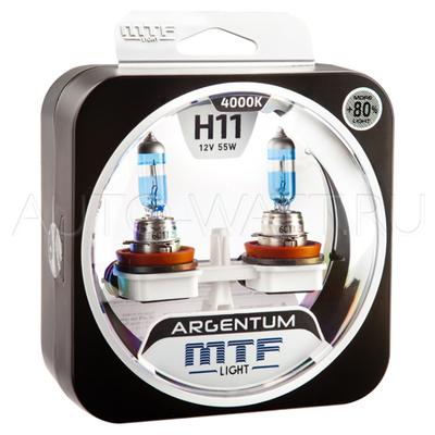 Лампа галогенная H11 - MTF Argentum + 80% 12V 55W 4000K