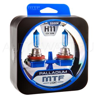 Лампа галогенная H11 - MTF Palladium 12V 55W 5500K