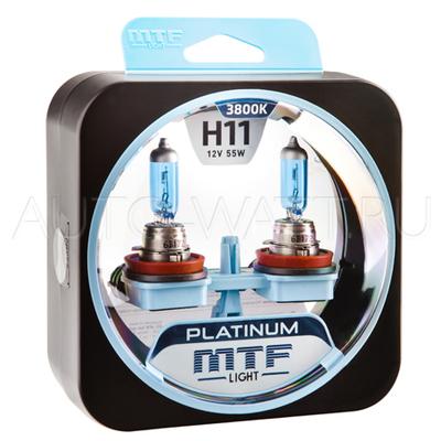 Лампа галогенная H11 - MTF Platinum 12V 55W 3800K
