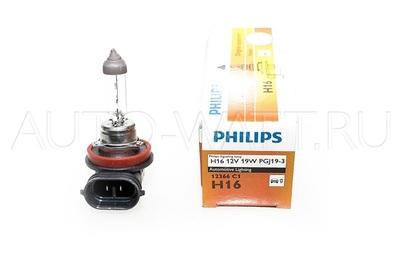 Лампа галогенная H16 - PHILIPS Standard 12V 19W 3000K