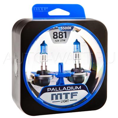 Лампа галогенная H27 881 - MTF Palladium 12V 27W 5500K