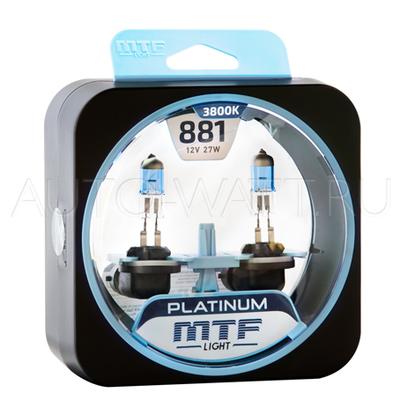 Лампа галогенная H27 881 - MTF Platinum 12V 27W 3800K