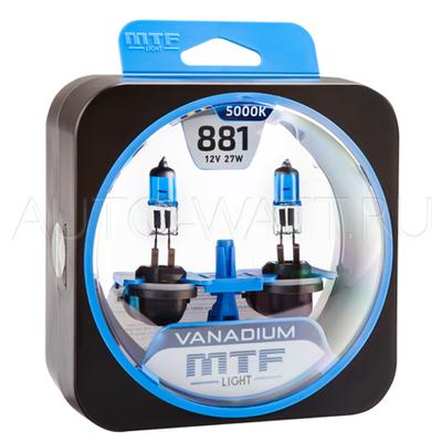 Лампа галогенная H27 881 - MTF Vanadium 12V 27W 5000K