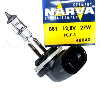 Лампа галогенная H27 881 - NARVA 12V 27W