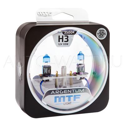 Лампа галогенная H3 - MTF Argentum + 50% 12V 55W 3500K