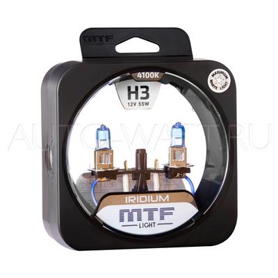 Лампа галогенная H3 - MTF Iridium 12V 55W 4100K