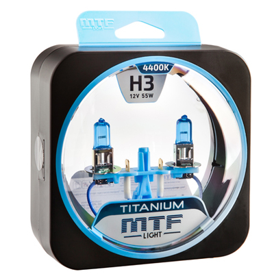 Лампа галогенная H3 - MTF Titanium 12V 55W 4400K