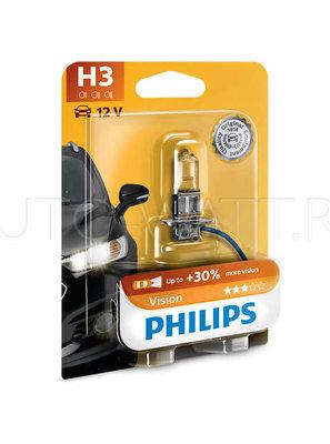 Лампа галогенная H3 - PHILIPS Vision +30% 12V 55W 4000K
