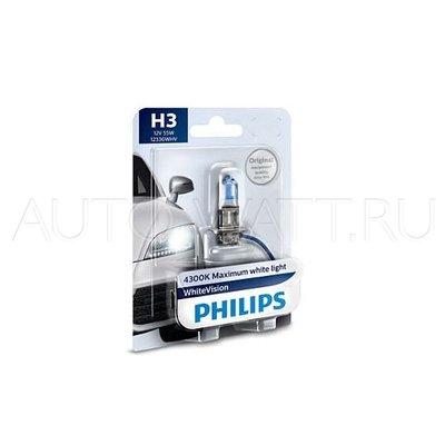 Лампа галогенная H3 - PHILIPS White Vision +60% 12V 55W 4300K