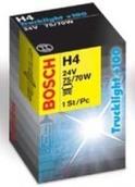 Лампа галогенная H4 - Bosch TruckLight Plus 100% 24V 75/70W