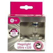 Лампа галогенная H4 - GE Megalight Ultra +120