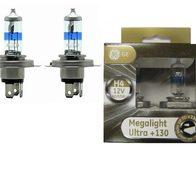Лампа галогенная H4 - GE Megalight Ultra +130