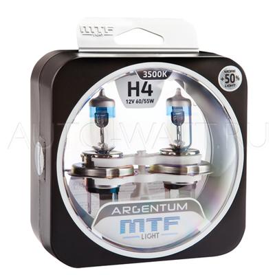 Лампа галогенная H4 - MTF Argentum + 50% 12V 60/55W 3500K
