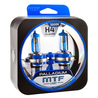 Лампа галогенная H4 - MTF Palladium 12V 60/55W 5500K