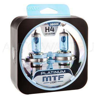 Лампа галогенная H4 - MTF Platinum 12V 60/55W 3800K