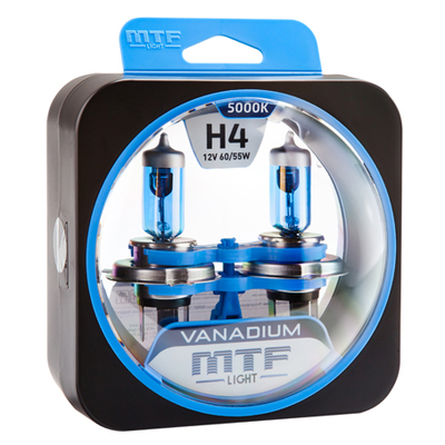 Лампа галогенная H4 - MTF Vanadium 12V 60/55W 5000K