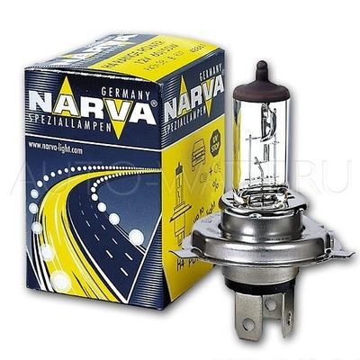 Лампа галогенная H4 - NARVA 12V 60/55W