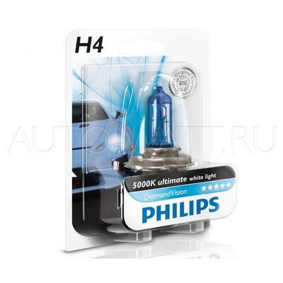 Лампа галогенная H4 - PHILIPS Diamond Vision 12V 60/55W 5000K