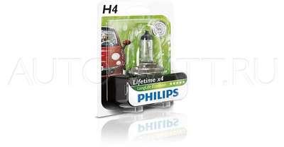 Лампа галогенная H4 - PHILIPS LongLife Eco 12V 60/55W 3000K