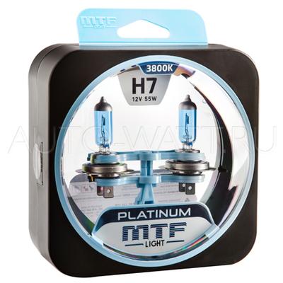 Лампа галогенная H7 - MTF Platinum 12V 55W 3800K