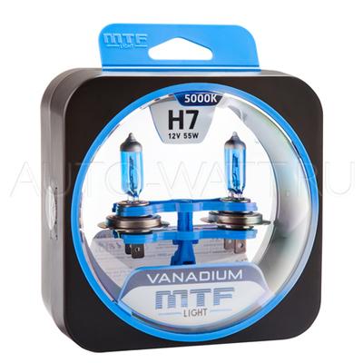 Лампа галогенная H7 - MTF Vanadium 12V 55W 5000K