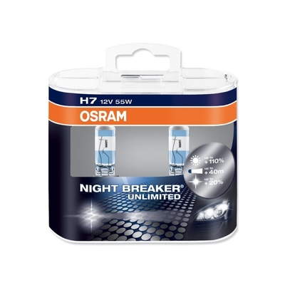 Лампа галогенная H7 - OSRAM Night Breaker Unlimited 12V 55W