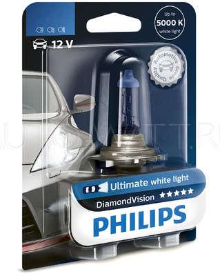 Лампа галогенная H7 - PHILIPS Diamond Vision 12V 55W 5000K