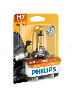 Лампа галогенная H7 - PHILIPS Vision +30% 12V 55W 3000K