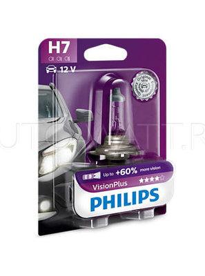 Лампа галогенная H7 - PHILIPS Vision Plus +60% 12V 55W 3000K