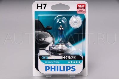 Лампа галогенная H7 - PHILIPS X-treme Vision +130% 12V 55W 3700K