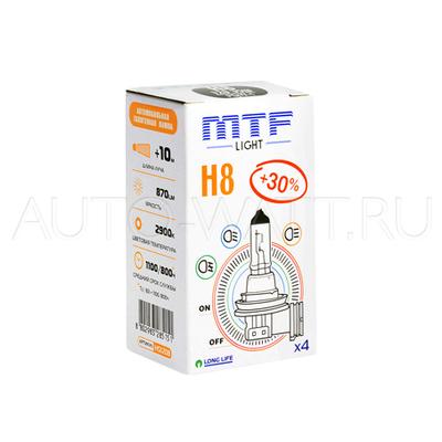 Лампа галогенная H8 - MTF 12V 35W 3000K
