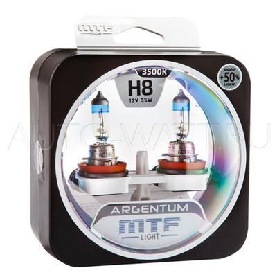 Лампа галогенная H8 - MTF Argentum + 50% 12V 35W 3500K