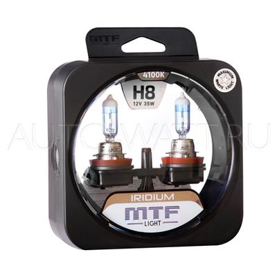 Лампа галогенная H8 - MTF Iridium 12V 35W 4100K