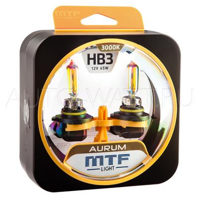 Лампа галогенная HB3 9005 - MTF Aurum 12V 65W 3000K